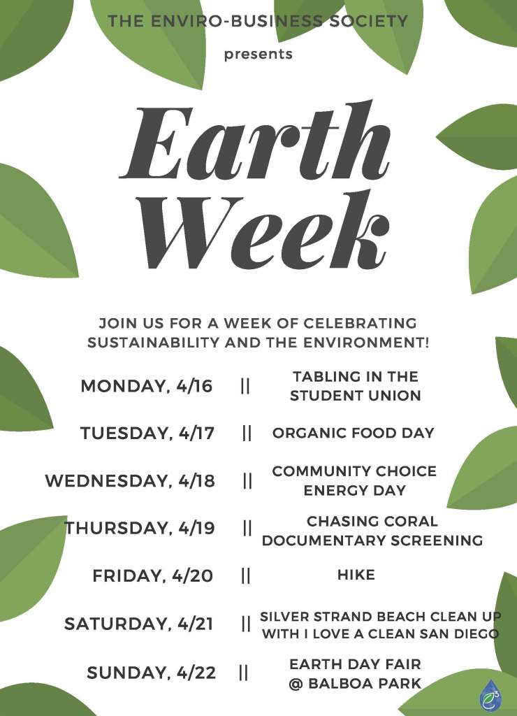earth week flyer